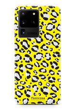 FOONCASE Samsung Galaxy S20 Ultra hoesje TPU Soft Case - Back Cover - WILD COLLECTION / Luipaard / Leopard print / Geel
