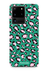 FOONCASE Samsung Galaxy S20 Ultra hoesje TPU Soft Case - Back Cover - WILD COLLECTION / Luipaard / Leopard print / Groen