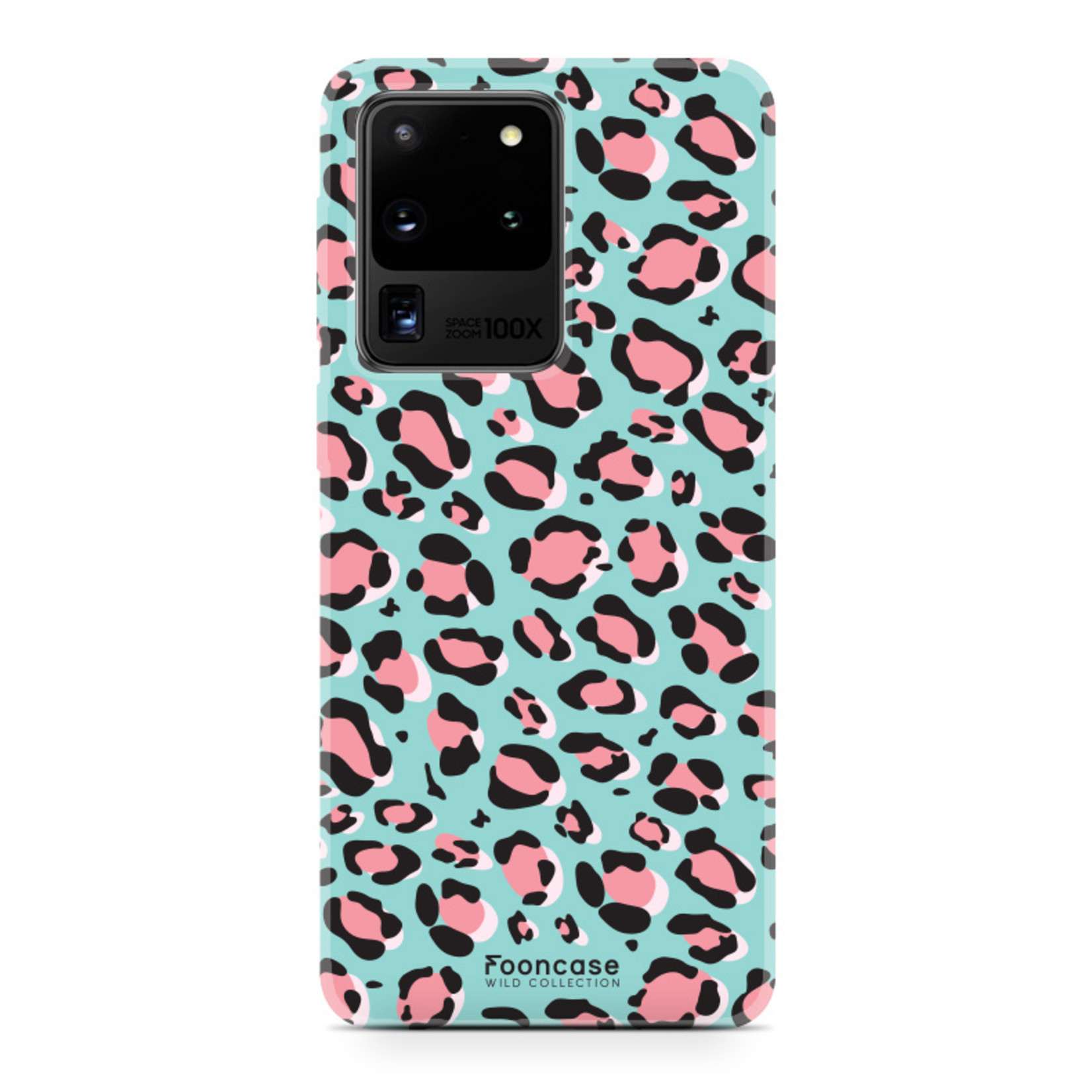 FOONCASE Samsung Galaxy S20 Ultra hoesje TPU Soft Case - Back Cover - WILD COLLECTION / Luipaard / Leopard print / Blauw