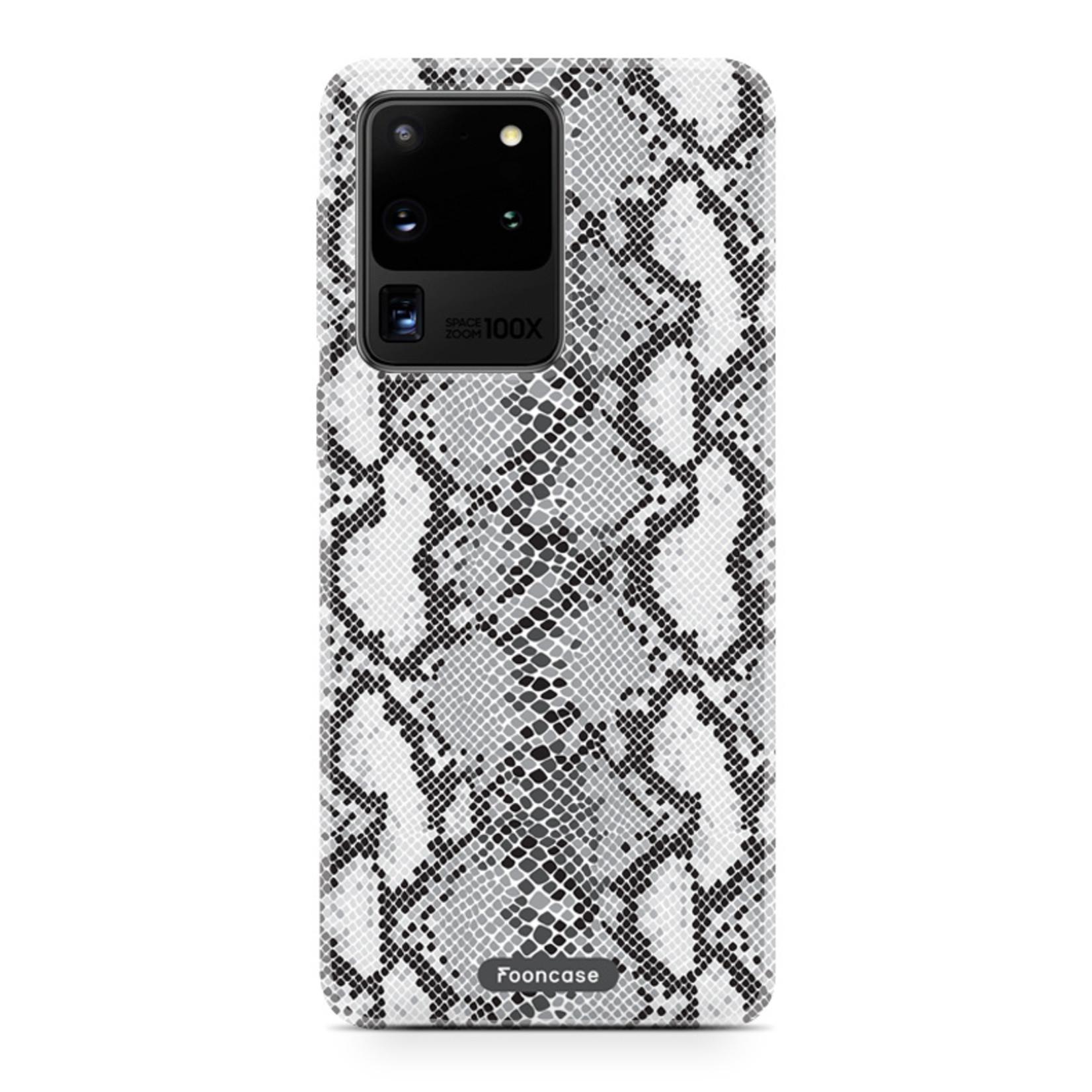 FOONCASE Samsung Galaxy S20 Ultra - hoesje TPU Soft Case - Back Cover - Snake it / Slangen print