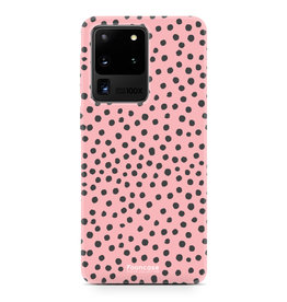 FOONCASE Samsung Galaxy S20 Ultra - POLKA COLLECTION / Pink