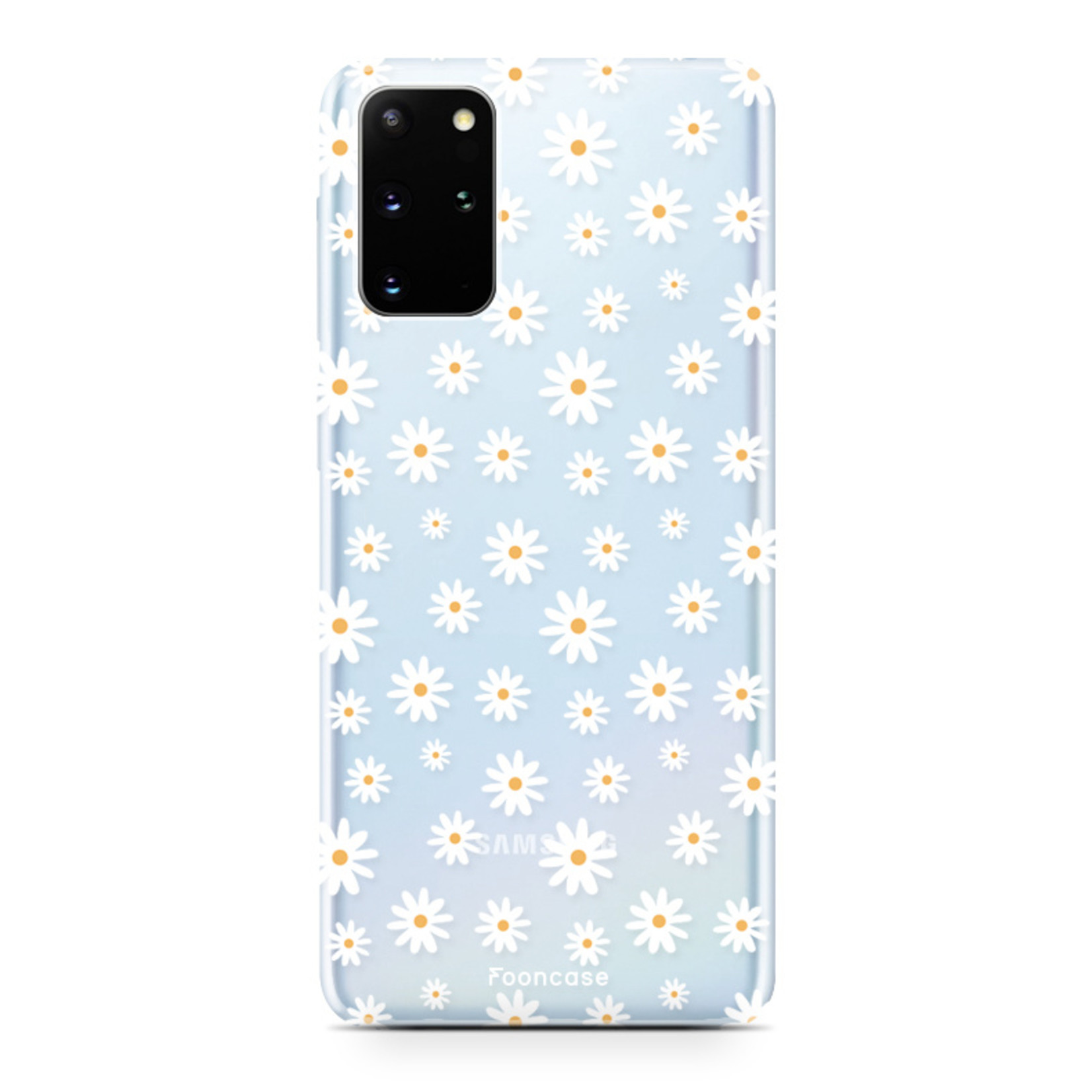 FOONCASE Samsung Galaxy S20 Plus hoesje TPU Soft Case - Back Cover - Madeliefjes