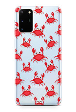FOONCASE Samsung Galaxy S20 Plus hoesje TPU Soft Case - Back Cover - Crabs / Krabbetjes / Krabben