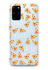 FOONCASE Samsung Galaxy S20 Plus hoesje TPU Soft Case - Back Cover - Pizza / Food