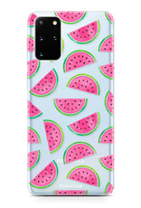FOONCASE Samsung Galaxy S20 Plus hoesje TPU Soft Case - Back Cover - Watermeloen