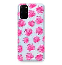 FOONCASE Samsung Galaxy S20 Plus - Pink leaves