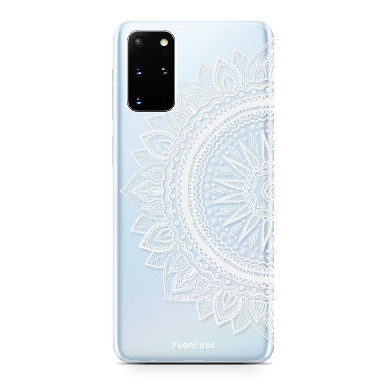 FOONCASE Samsung Galaxy S20 Plus hoesje TPU Soft Case - Back Cover - Mandala / Ibiza