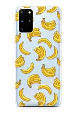 FOONCASE Samsung Galaxy S20 Plus hoesje TPU Soft Case - Back Cover - Bananas / Banaan / Bananen