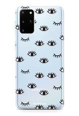FOONCASE Samsung Galaxy S20 Plus hoesje TPU Soft Case - Back Cover - Eyes / Ogen