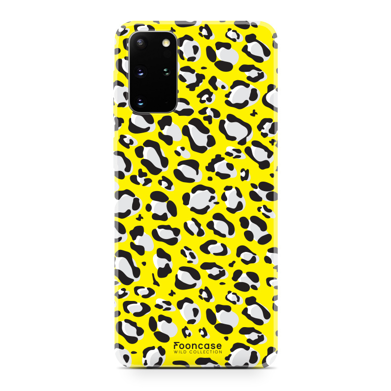FOONCASE Samsung Galaxy S20 Plus hoesje TPU Soft Case - Back Cover - WILD COLLECTION / Luipaard / Leopard print / Geel