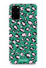 FOONCASE Samsung Galaxy S20 Plus hoesje TPU Soft Case - Back Cover - WILD COLLECTION / Luipaard / Leopard print / Groen