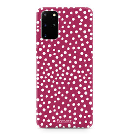 FOONCASE Samsung Galaxy S20 Plus - POLKA COLLECTION / Rot