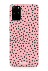 FOONCASE Samsung Galaxy S20 Plus hoesje TPU Soft Case - Back Cover - POLKA COLLECTION / Stipjes / Stippen / Roze