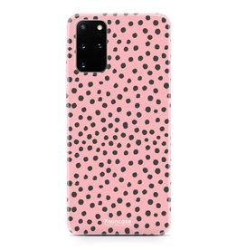 FOONCASE Samsung Galaxy S20 Plus - POLKA COLLECTION / Pink