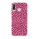 FOONCASE Huawei P30 Lite - POLKA COLLECTION / Red
