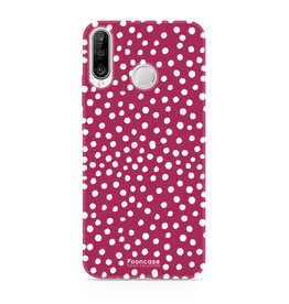 FOONCASE Huawei P30 Lite - POLKA COLLECTION / Rosso