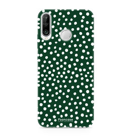 FOONCASE Huawei P30 Lite - POLKA COLLECTION / Groen