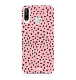 FOONCASE Huawei P30 Lite - POLKA COLLECTION / Roze