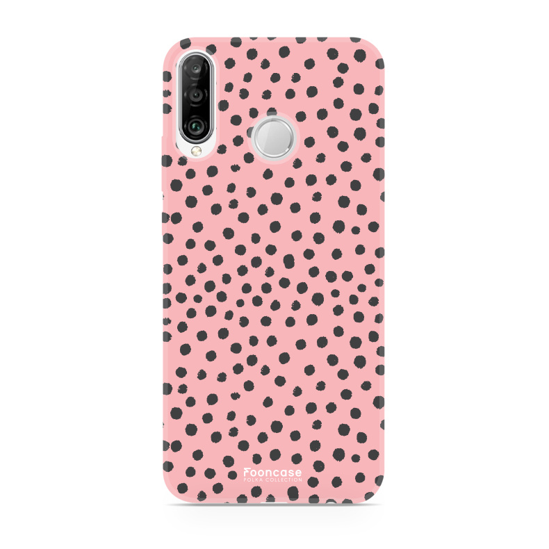 FOONCASE Huawei P30 Lite - POLKA COLLECTION / Rosa