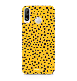 FOONCASE Huawei P30 Lite - POLKA COLLECTION / Ocher yellow