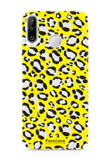FOONCASE Huawei P30 Lite hoesje TPU Soft Case - Back Cover - WILD COLLECTION / Luipaard / Leopard print / Geel