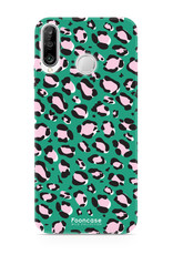 FOONCASE Huawei P30 Lite hoesje TPU Soft Case - Back Cover - WILD COLLECTION / Luipaard / Leopard print / Groen