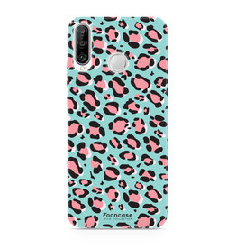 FOONCASE Huawei P30 Lite - WILD COLLECTION / Blauw