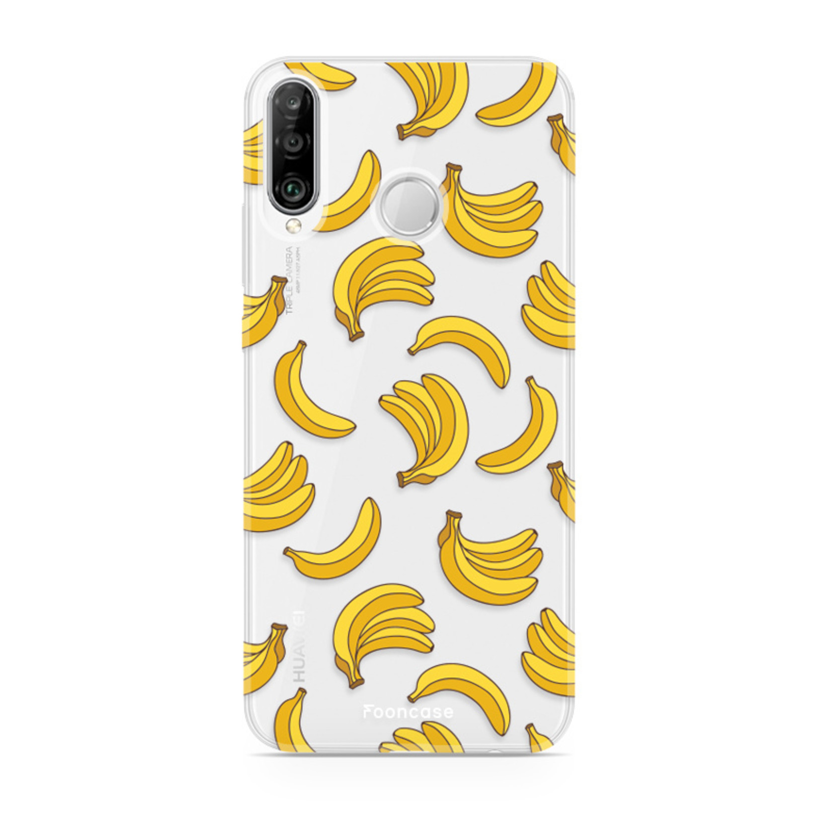 FOONCASE Huawei P30 Lite hoesje TPU Soft Case - Back Cover- Bananas / Banaan / Bananen