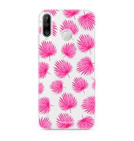 FOONCASE Huawei P30 Lite - Pink leaves