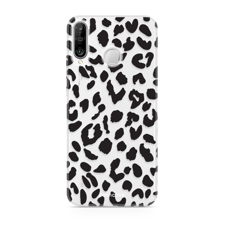 FOONCASE Huawei P30 Lite hoesje TPU Soft Case - Back Cover - Luipaard / Leopard print