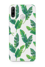 FOONCASE Huawei P30 Lite hoesje TPU Soft Case - Back Cover - Banana leaves / Bananen bladeren