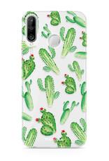 FOONCASE Huawei P30 Lite hoesje TPU Soft Case - Back Cover - Cactus