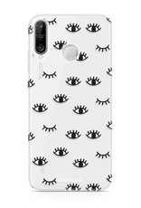 FOONCASE Huawei P30 Lite hoesje TPU Soft Case - Back Cover - Eyes / Ogen