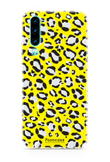 FOONCASE Huawei P30 hoesje TPU Soft Case - Back Cover- WILD COLLECTION / Luipaard / Leopard print / Geel