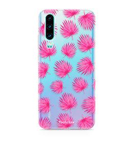 FOONCASE Huawei P30 - Pink leaves