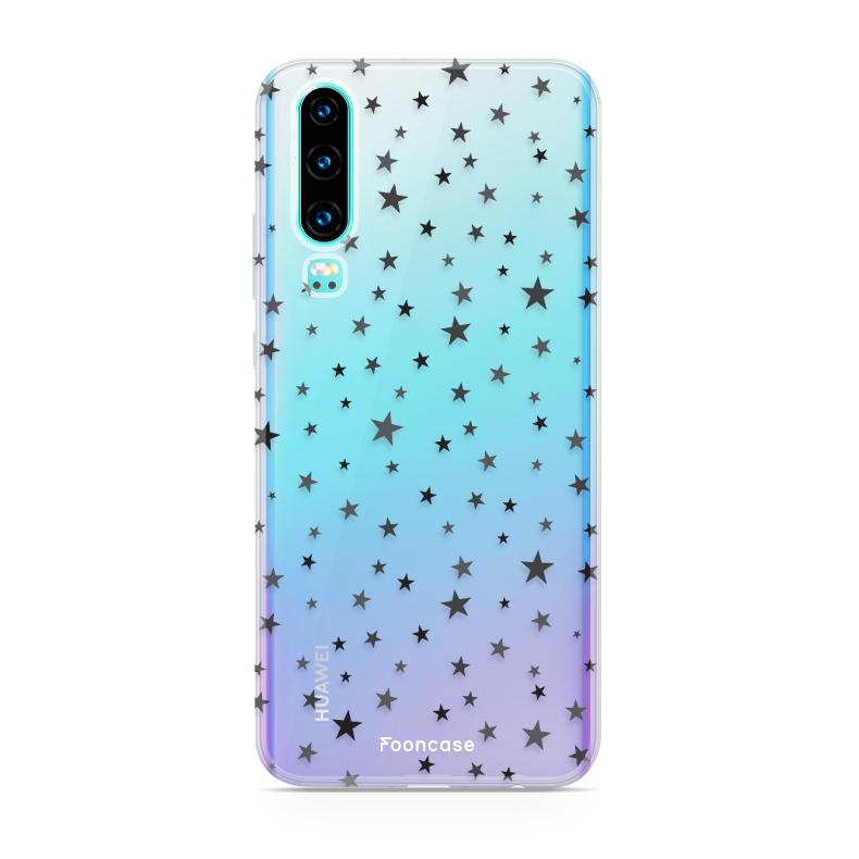 FOONCASE Huawei P30 hoesje TPU Soft Case - Back Cover - Stars / Sterretjes