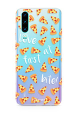 FOONCASE Huawei P30 hoesje TPU Soft Case - Back Cover -Pizza / Food