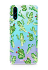 FOONCASE Huawei P30 hoesje TPU Soft Case - Back Cover - Cactus