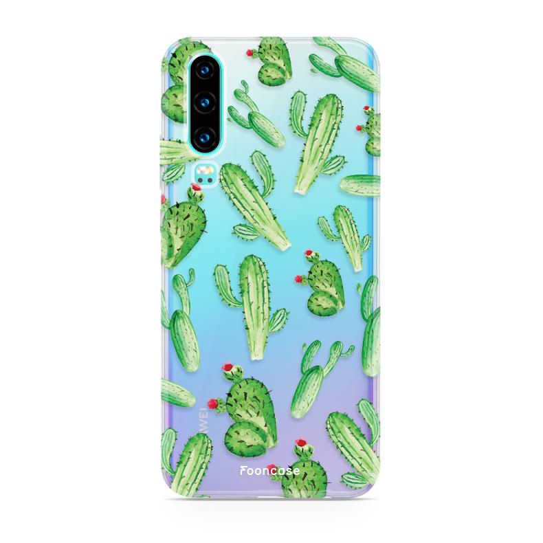 FOONCASE Huawei P30 Handyhülle - Kaktus