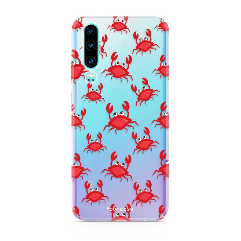 FOONCASE Huawei P30 hoesje TPU Soft Case - Back Cover - Crabs / Krabbetjes / Krabben