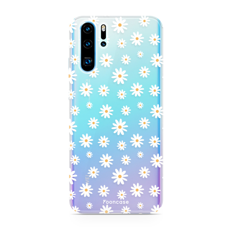FOONCASE Huawei P30 Pro hoesje TPU Soft Case - Back Cover - Madeliefjes