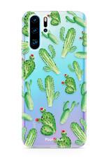 FOONCASE Huawei P30 Pro hoesje TPU Soft Case - Back Cover - Cactus