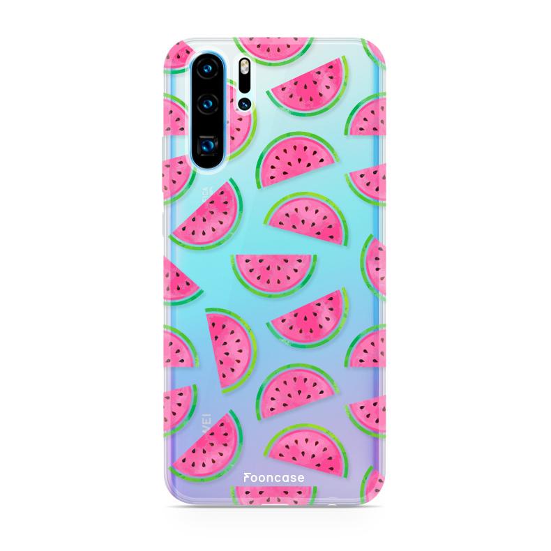 FOONCASE Huawei P30 Pro hoesje TPU Soft Case - Back Cover - Watermeloen