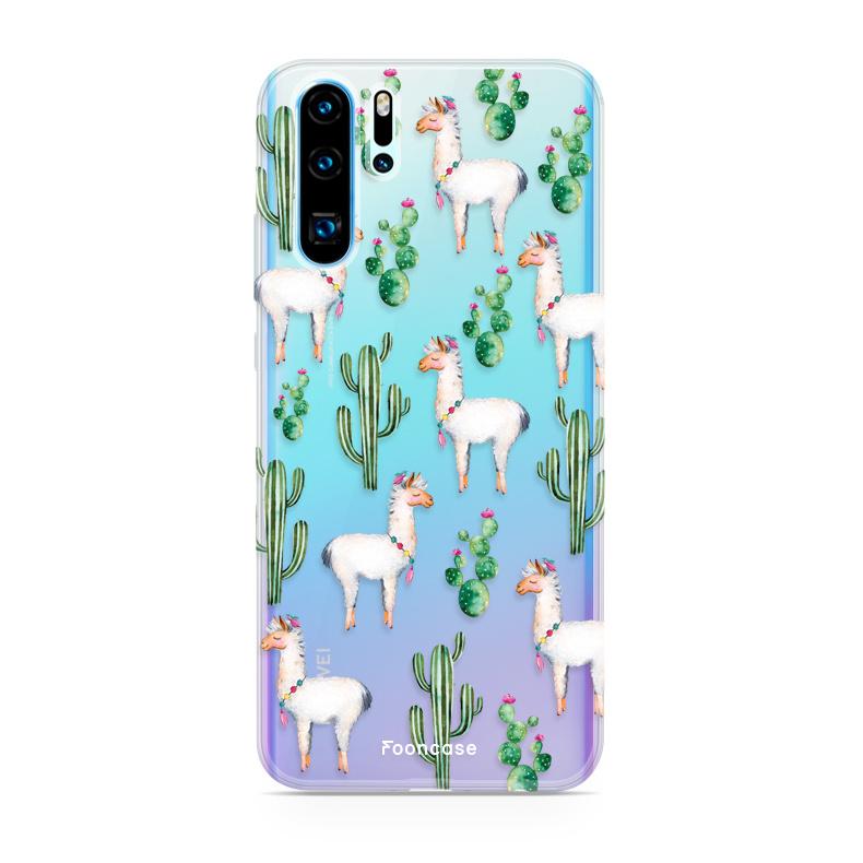 FOONCASE Huawei P30 Pro hoesje TPU Soft Case - Back Cover - Alpaca / Lama