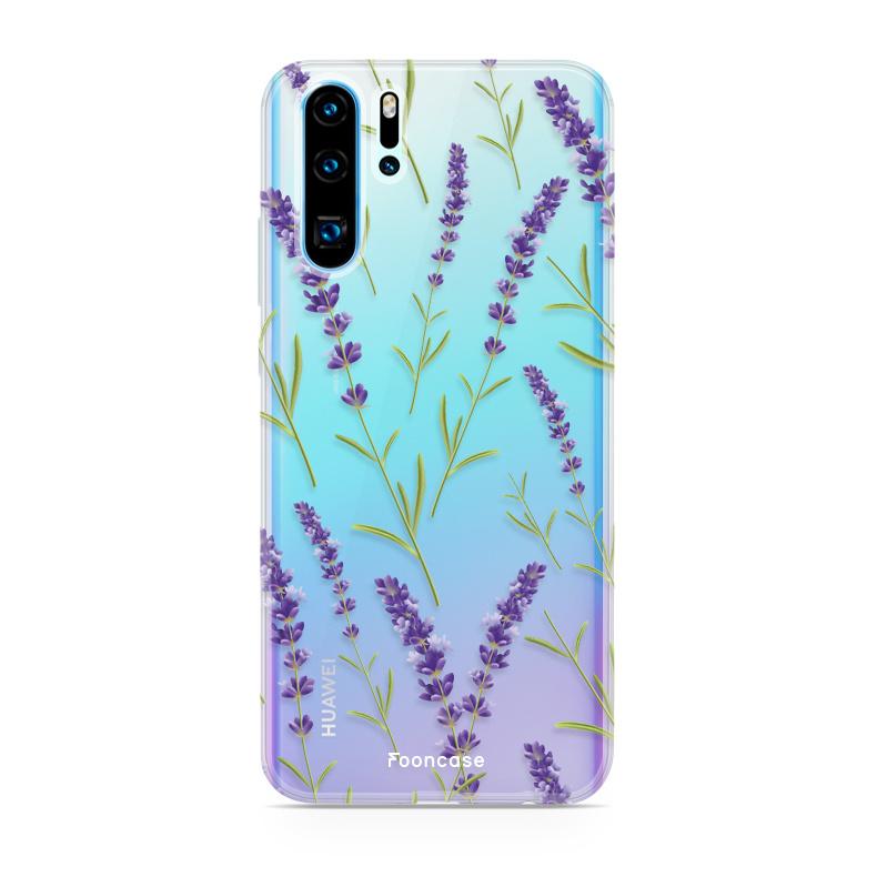 FOONCASE Huawei P30 Pro hoesje TPU Soft Case - Back Cover - Purple Flower / Paarse bloemen