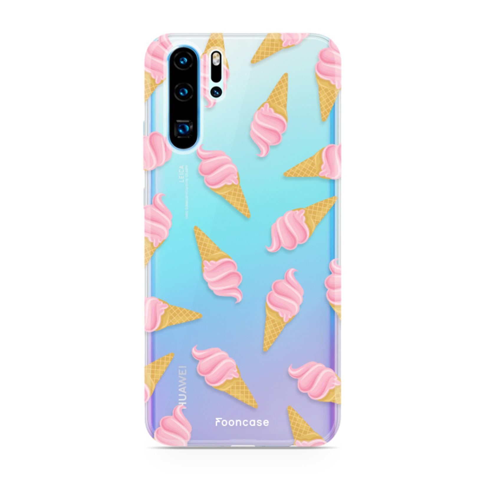 FOONCASE Huawei P30 Pro hoesje TPU Soft Case - Back Cover - Ice Ice Baby / Ijsjes / Roze ijsjes