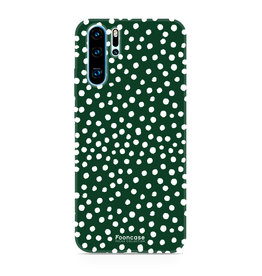 FOONCASE Huawei P30 Pro - POLKA COLLECTION / Groen