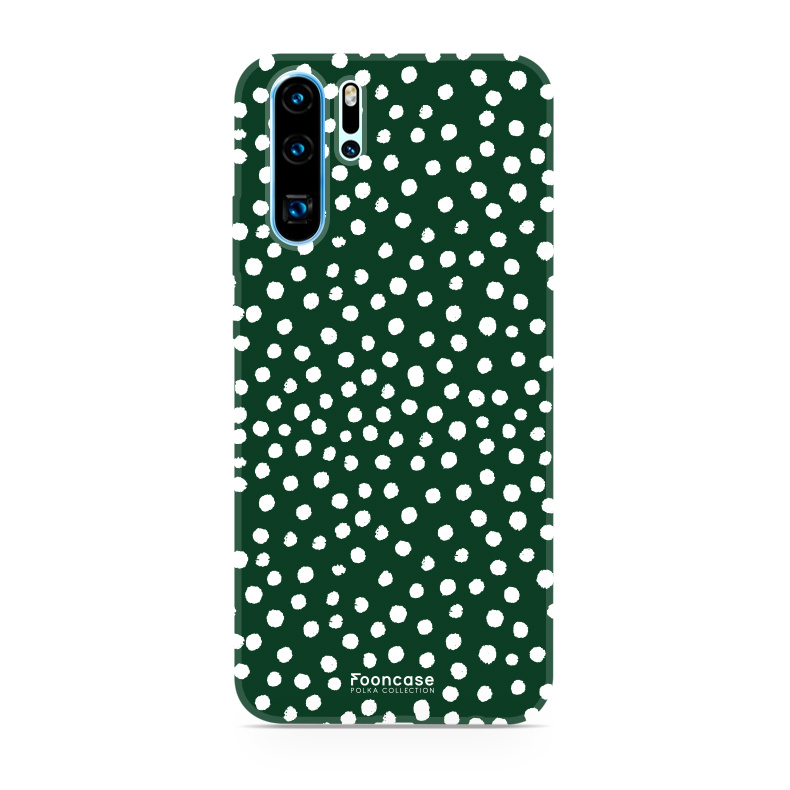 FOONCASE Huawei P30 Pro hoesje TPU Soft Case - Back Cover - POLKA COLLECTION / Stipjes / Stippen / Groen