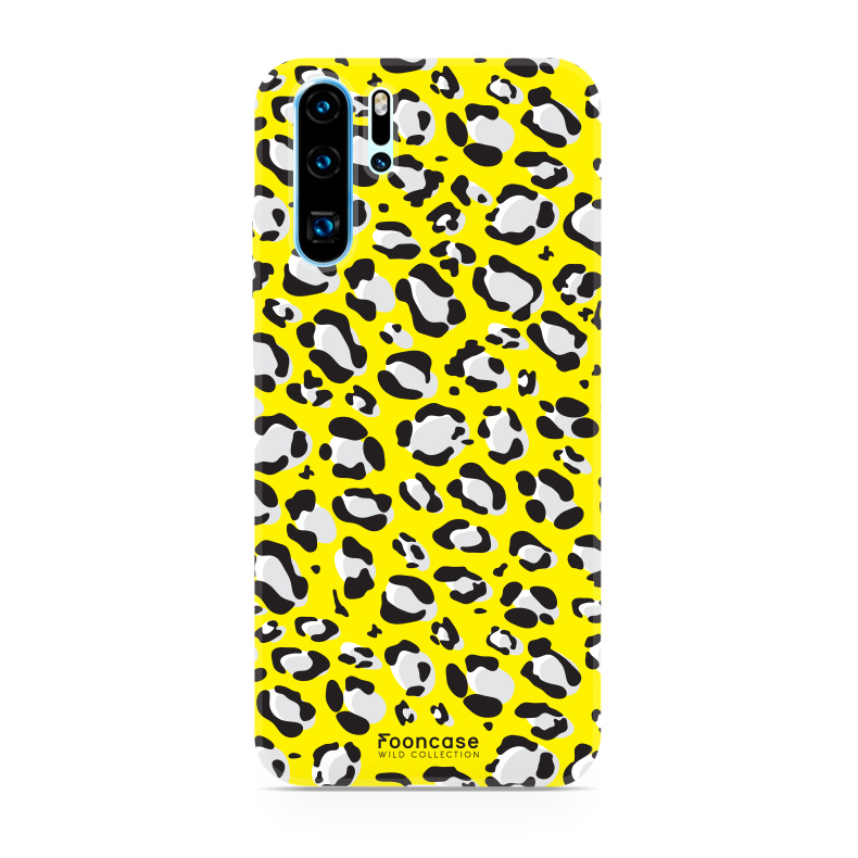 FOONCASE Huawei P30 Pro hoesje TPU Soft Case - Back Cover - WILD COLLECTION / Luipaard / Leopard print / Geel