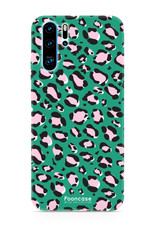 FOONCASE Huawei P30 Pro hoesje TPU Soft Case - Back Cover - WILD COLLECTION / Luipaard / Leopard print / Groen